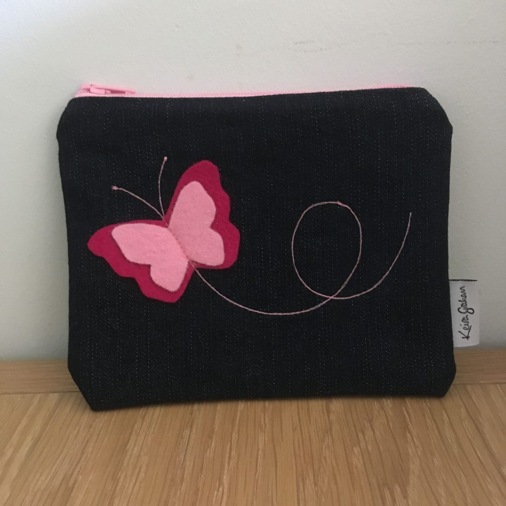Small Butterfly Zip Bag