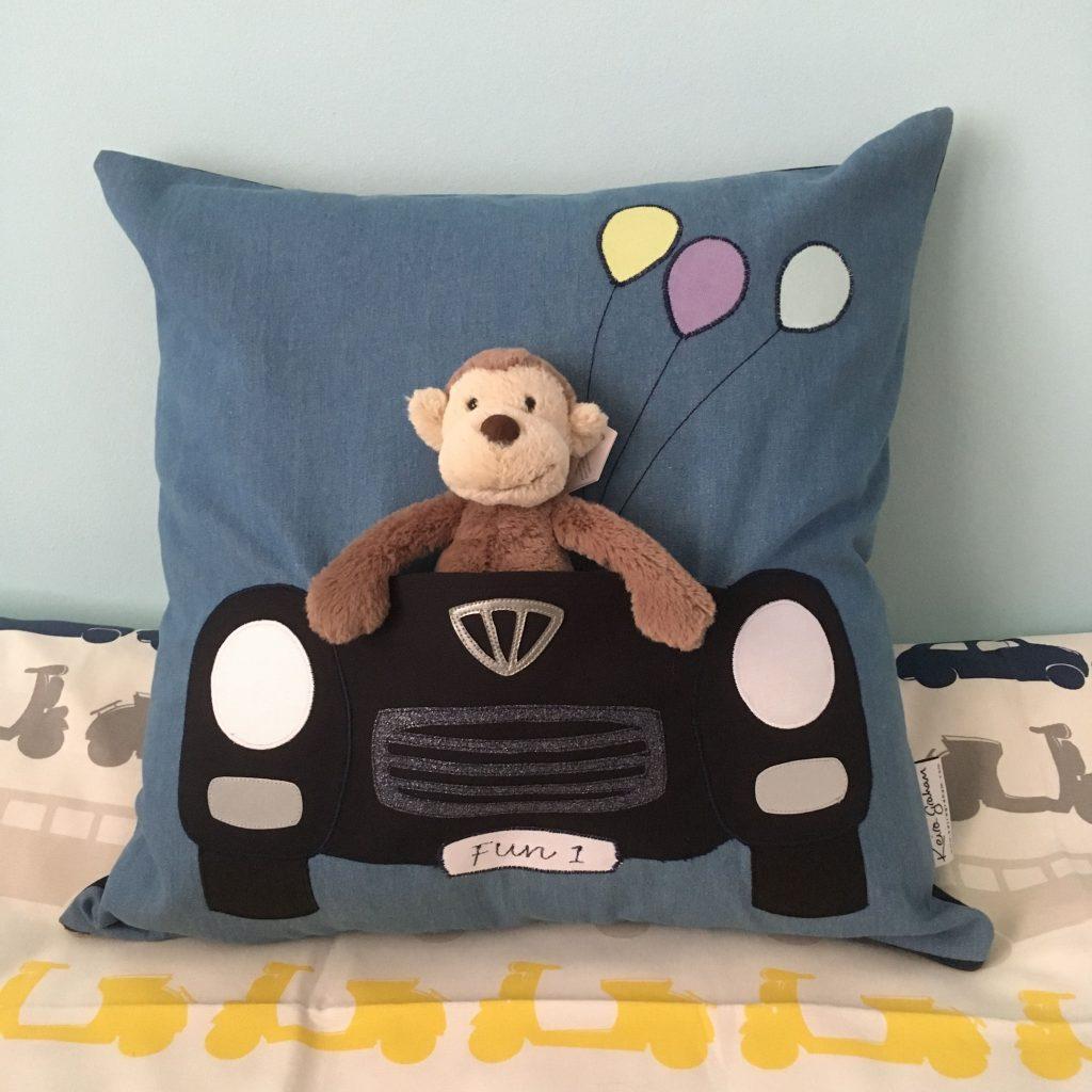 'Fun 1' Speeding Car Soft Toy Cushion
