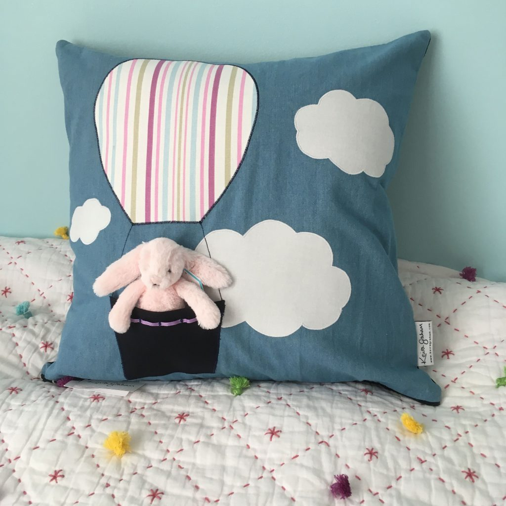 Floating Away in my Balloon Soft Toy Cushion
