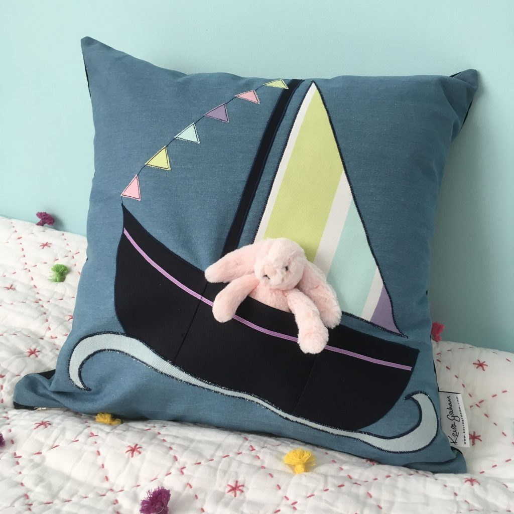 Sailboat Soft Toy Cushion